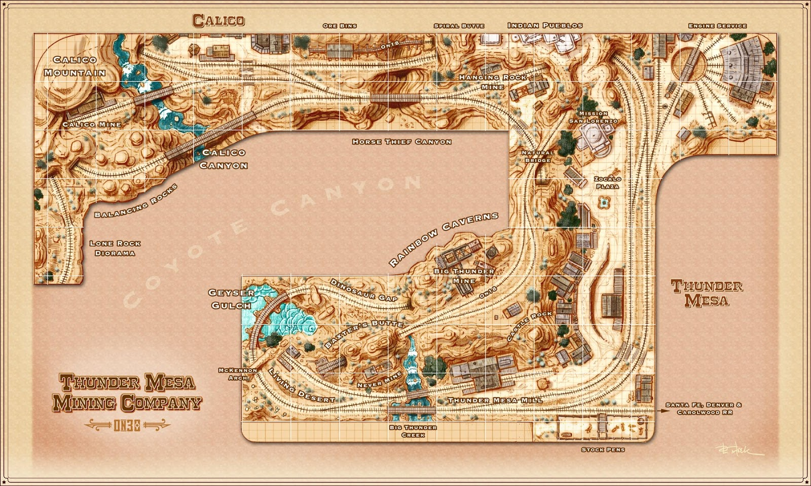 Thunder Mesa Track Plan On30