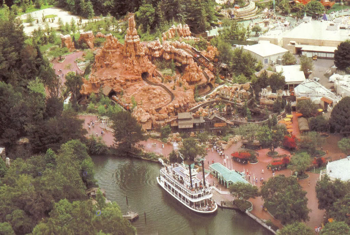 Big Thunder aerial 1979 Disneyland