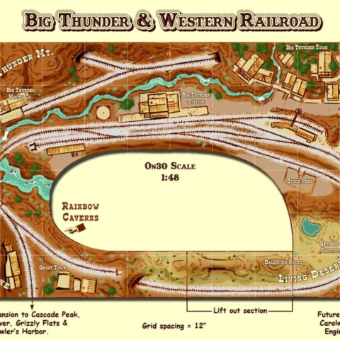 On30 track plan Big Thunder
