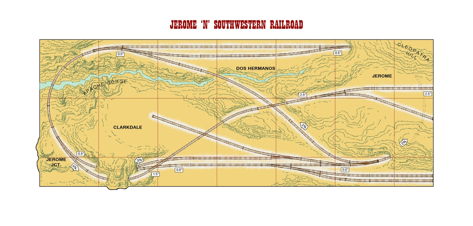 N scale track plan HCD